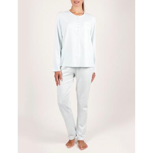 Textiel Dames Pyjama's / nachthemden Admas Pyjamabroekjes en -broeken voor binnenshuis Tapeta Adma's Blauw Turquoise