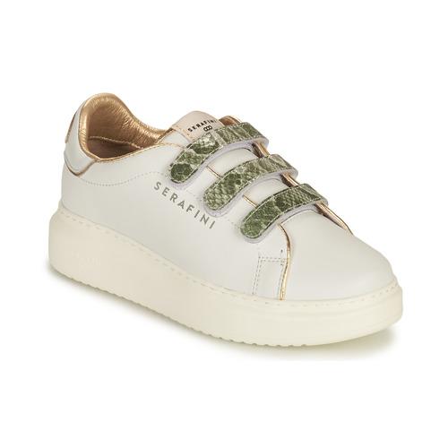 Schoenen Dames Lage sneakers Serafini CONNORS Wit / Goud / Groen