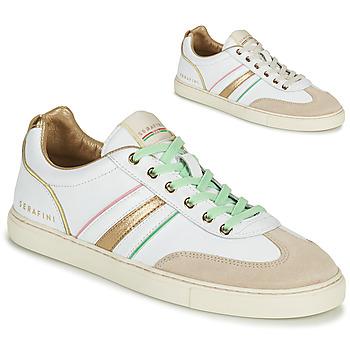 Schoenen Dames Lage sneakers Serafini COURT Wit / Goud