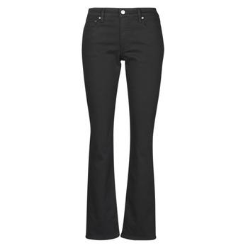 Textiel Dames Straight jeans Lauren Ralph Lauren MIDRISE STRT-5-POCKET-DENIM Zwart