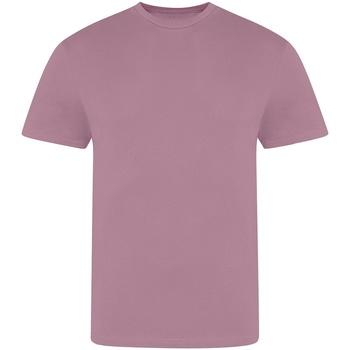 Textiel Heren T-shirts korte mouwen Awdis JT100 Stoffig paars