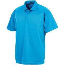 Textiel Polo's korte mouwen Spiro SR288 Oceaan Blauw