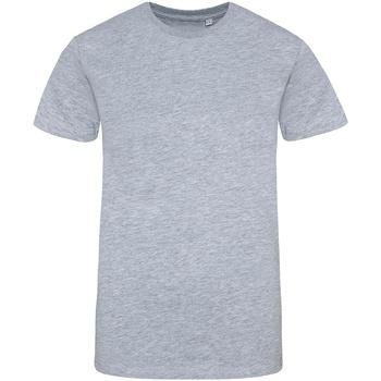 Textiel Heren T-shirts korte mouwen Awdis JT100 Heide Grijs