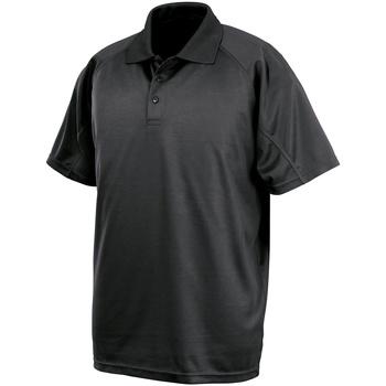 Textiel Polo's korte mouwen Spiro SR288 Zwart