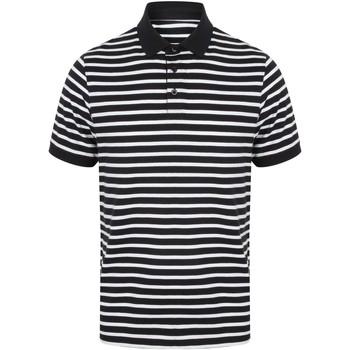 Textiel Heren Polo's korte mouwen Front Row FR230 Marine / Wit