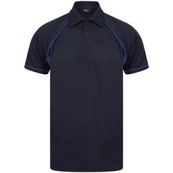 Textiel Heren Polo's korte mouwen Finden & Hales LV370 Marine/Loyaal Blauw