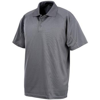 Textiel Polo's korte mouwen Spiro SR288 Grijs