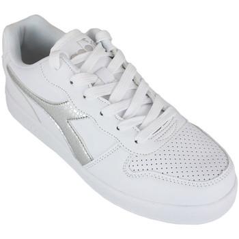 Schoenen Meisjes Lage sneakers Diadora playground gs girl c0516 Zilver