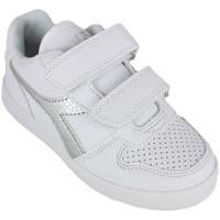 Schoenen Meisjes Lage sneakers Diadora playground ps girl c0516 Zilver