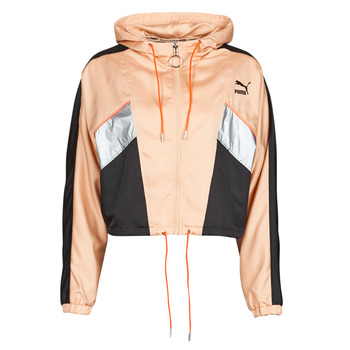 Textiel Dames Trainings jassen Puma FASHION LUX JACKET Roze / Zwart
