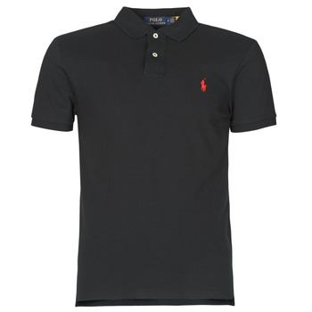 Textiel Heren Polo's korte mouwen Polo Ralph Lauren POLO CINTRE SLIM FIT EN COTON BASIC MESH LOGO PONY PLAYER Zwart