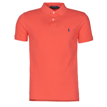 Textiel Heren Polo's korte mouwen Polo Ralph Lauren POLO CINTRE SLIM FIT EN COTON BASIC MESH LOGO PONY PLAYER Rood