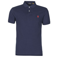Textiel Heren Polo's korte mouwen Polo Ralph Lauren POLO CINTRE SLIM FIT EN COTON BASIC MESH LOGO PONY PLAYER Marine