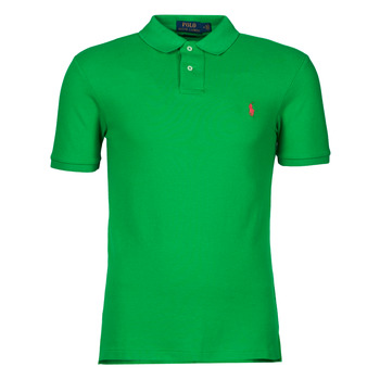 Textiel Heren Polo's korte mouwen Polo Ralph Lauren POLO CINTRE SLIM FIT EN COTON BASIC MESH LOGO PONY PLAYER Groen