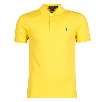 Textiel Heren Polo's korte mouwen Polo Ralph Lauren POLO CINTRE SLIM FIT EN COTON STRETCH MESH LOGO PONY PLAYER Geel