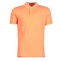 Textiel Heren Polo's korte mouwen Polo Ralph Lauren POLO AJUSTE DROIT EN COTON BASIC MESH LOGO PONY PLAYER Oranje