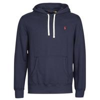 Textiel Heren Sweaters / Sweatshirts Polo Ralph Lauren SWEAT A CAPUCHE MOLTONE EN COTON LOGO PONY PLAYER Blauw