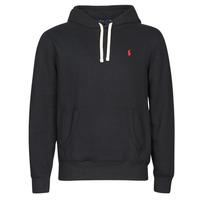 Textiel Heren Sweaters / Sweatshirts Polo Ralph Lauren SWEAT A CAPUCHE MOLTONE EN COTON LOGO PONY PLAYER Zwart