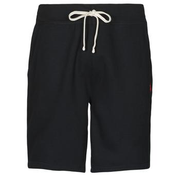 Textiel Heren Korte broeken / Bermuda's Polo Ralph Lauren SHORT MOLTONE EN COTON LOGO PONY PLAYER Zwart