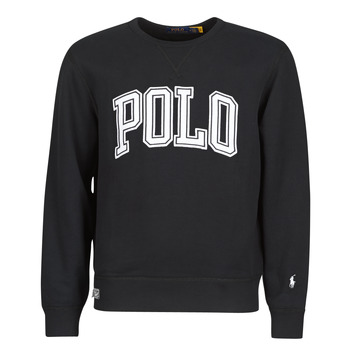 Textiel Heren Sweaters / Sweatshirts Polo Ralph Lauren SWEATSHIRT COL ROND INSCIRPTION POLO ET PONY PLAYER SUR LA MANCH Zwart