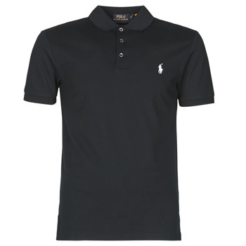 Textiel Heren Polo's korte mouwen Polo Ralph Lauren POLO CINTRE SLIM FIT EN COTON STRETCH MESH LOGO PONY PLAYER Zwart