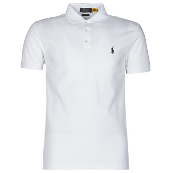 Textiel Heren Polo's korte mouwen Polo Ralph Lauren POLO CINTRE SLIM FIT EN COTON STRETCH MESH LOGO PONY PLAYER Wit