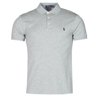 Textiel Heren Polo's korte mouwen Polo Ralph Lauren POLO CINTRE SLIM FIT EN COTON STRETCH MESH LOGO PONY PLAYER Grijs