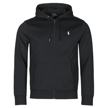 Textiel Heren Sweaters / Sweatshirts Polo Ralph Lauren SWEATSHIRT A CAPUCHE ZIPPE EN JOGGING DOUBLE KNIT TECH LOGO PONY Zwart
