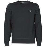 Textiel Heren Sweaters / Sweatshirts Polo Ralph Lauren SWEATSHIRT COL ROND EN JOGGING DOUBLE KNIT TECH LOGO PONY PLAYER Zwart