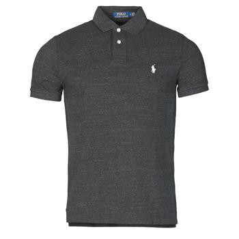 Textiel Heren Polo's korte mouwen Polo Ralph Lauren POLO AJUSTE DROIT EN COTON BASIC MESH LOGO PONY PLAYER Zwart