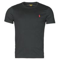 Textiel Heren T-shirts korte mouwen Polo Ralph Lauren T-SHIRT AJUSTE COL ROND EN COTON LOGO PONY PLAYER Zwart
