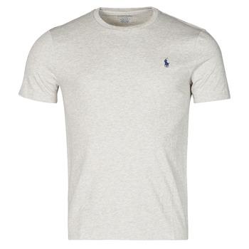 Textiel Heren T-shirts korte mouwen Polo Ralph Lauren T-SHIRT AJUSTE COL ROND EN COTON LOGO PONY PLAYER Grijs