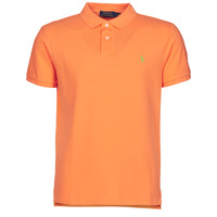 Textiel Heren Polo's korte mouwen Polo Ralph Lauren POLO CINTRE SLIM FIT EN COTON BASIC MESH LOGO PONY PLAYER Oranje