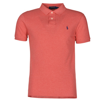 Textiel Heren Polo's korte mouwen Polo Ralph Lauren POLO CINTRE SLIM FIT EN COTON BASIC MESH LOGO PONY PLAYER Roze