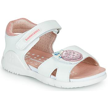 Schoenen Meisjes Sandalen / Open schoenen Biomecanics 212163 Wit / Roze