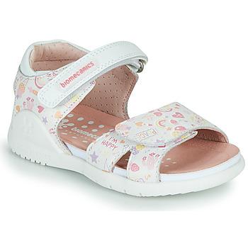 Schoenen Meisjes Sandalen / Open schoenen Biomecanics 212165 Wit / Multi