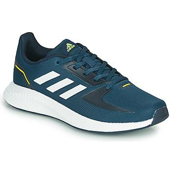 Schoenen Kinderen Lage sneakers adidas Performance RUNFALCON 2.0 K Marine / Wit