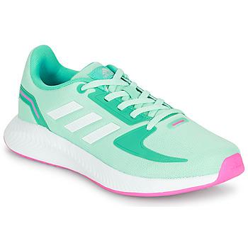 Schoenen Meisjes Lage sneakers adidas Performance RUNFALCON 2.0 K Turquoize / Roze