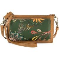 Tassen Dames Portefeuilles Skpat LORETTE Nylon/Ecopiel polshandvattend portemonnee voor dames Bruine