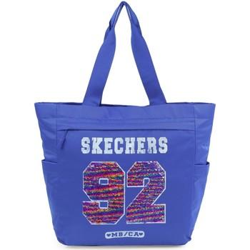 Tassen Handtassen kort hengsel Skechers STARLIGHT Unisex Pocket Tatoeage blauw