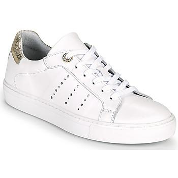 Schoenen Dames Lage sneakers Myma PEGGUI Wit / Goud