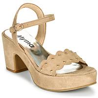 Schoenen Dames Sandalen / Open schoenen Myma POULIDOU Taupe