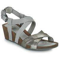 Schoenen Dames Sandalen / Open schoenen Teva MAHONIA WEDGE CROSS STRAP ML Grijs / Metaal