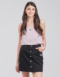 Textiel Dames Tops / Blousjes Calvin Klein Jeans MONOGRAM CAMI TOP Roze