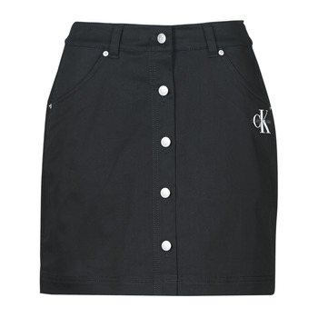 Textiel Dames Rokken Calvin Klein Jeans COTTON TWILL MINI SKIRT Zwart