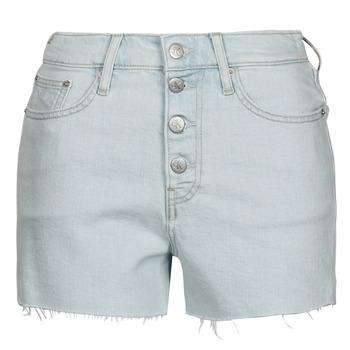 Textiel Dames Korte broeken / Bermuda's Calvin Klein Jeans HIGH RISE SHORT Blauw / Clair