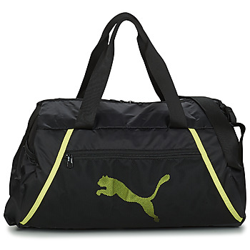 Tassen Dames Sporttas Puma AT ESS BARREL BAG Zwart / Geel / Fluo