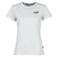 Textiel Dames T-shirts korte mouwen Puma ESS LOGO TEE Grijs / Gevlekt