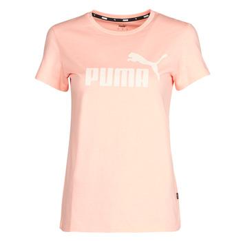 Textiel Dames T-shirts korte mouwen Puma ESS Logo Tee (s) Apricot