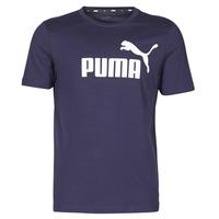 Textiel Heren T-shirts korte mouwen Puma ESSENTIAL TEE Marine